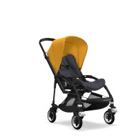Bugaboo Complete Stroller Bee5 Black/Steel Blue - Sun Yellow