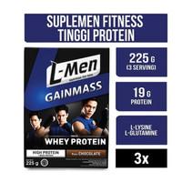 Lmen Gain Mass Daily Whey Hi Protein L-Men Suplemen Fitness Susu