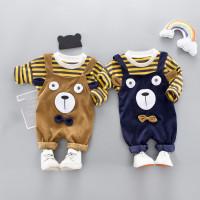 (PROMO) Setelan Sweater Motif Garis + Celana Panjang untuk Bayi /