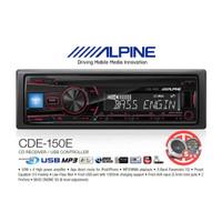 Alpine CDE-150E Single Din 2 Pre-Out RCA