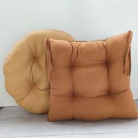 Paket Couple Golden Choco, Bantal Duduk Kotak & Bulat Kualitas Premium