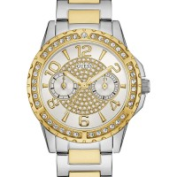 Jam Tangan Wanita Guess GW W0705L4 Gold Silver Original