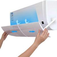 AKKOKI Cover Angin AC Adjustable Air Conditioner Windshield Deflector