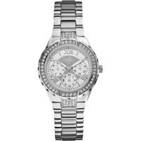 Jam Tangan Wanita Guess GW W0111L1 Silver Putih Original