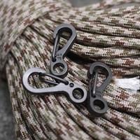 Mini Spring Keychain Hanging Key Ring Carabiner / Alat Bantu Tali