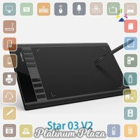 XP-Pen Star 03 V2 Graphics Digital Drawing Tablet with `3G3NO7- Black