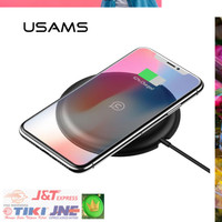 USAMS Qi Wireless Charger Fast Charging 5V2A for Smartphone - Black