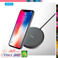 Jual Vinsic Qi Wireless Charger for Smartphone - Black