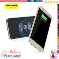 Jual Awei Qi Wireless Charger Dual Coils - W1 - Black