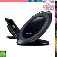 Murah Wireless Qi Charger Dock for Smartphone - Black