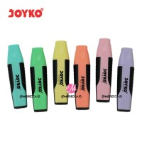 SET 6 WARNA PASTEL HIGHLIGHTER JOYKO BUNDLING PAKET ALAT TULIS KANTOR