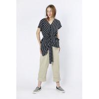 Cottonink - Black Striped Mykonos