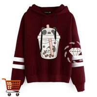 Outer Boba Big Size Hoodie Outer Sweater Jumbo