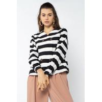 Cottonink - Black Striped Selah