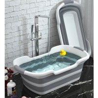 BATHE PROJECT Bak Mandi Bayi Lipat Foldable Baby Bathtub 60 x 40CM wit