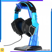 Hanger Headphone Headset Gaming Sades Universal [Biru]