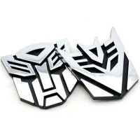 Emblem Logo Stiker 3D Transformers Autobot Decepticon suku cadang