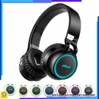 Headset Headphone Gaming Wireless Bluetooth 7 Color Ring with TF & Mic