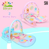 baby gym musical set musik bayi playmat matras mainan piano