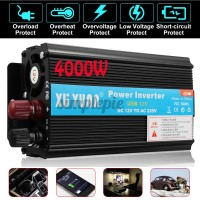 4000W 12v/24V DC to 110v/220V Solar Power Inverter LED AC Sine Wave