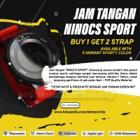 Jam Tangan Pria Digital Analog NINOCS Sport - Asli & ORIGINAL