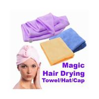 handuk keramas hair wrap magic towel penyerap air microfiber topi oke