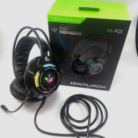 NYK HS P13 WARLOCK NEMESIS RGB USB 7 1 50MM SURROUND GAMING HEADSET