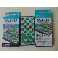 Mainan jadul ular tangga magnet papan lipat magnetic game snakes S1104