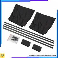 Pelindung Panas Tirai Tabir Surya Kaca Mobil Anti UV - 70S [Hitam]