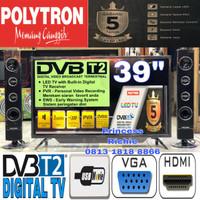 polytron led tv 39 inch 40TS153 plus speaker tower tools