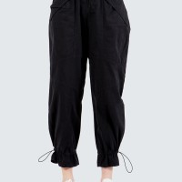 Colorbox Cargo Pants With Buckle I-Lpdfct120E010 Black - Black, L