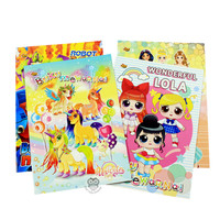Buku Mewarnai Unicorn, LOL, Robot dan Princess