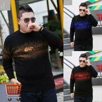 Kaos Magplus Big Size Tshirt Pria Lengan Panjang Jumbo
