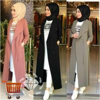 Long Cardi Zehiya Big Size Cardigan Panjang Muslim Jumbo