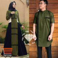 Couple Prisilia Big Size Busui Couple Gamis Muslim Jumbo