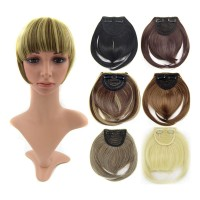 ※Short Front Neat Bangs Clip In Bang Fringe Hair Extensions