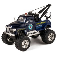 KiNSMART Blue 1953 Chevy Off-Road Wrecker Die Cast Tow Truck Toy with