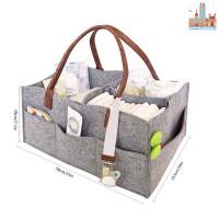 ✅❤✨ Foldable Felt Storage Bag Baby Diaper Caddy Organizer Car