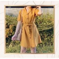 Dress Mini Kimono Wanita Murah A Line Premium Murah Import Korea - Putih