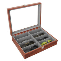 Glasses Display Case Grids Storage Box Jewelry Collection