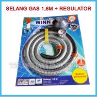 PAKET SELANG GAS 1,8M + REGULATOR METER WINN GAS W-298M