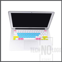 Candy Color Silicone Keyboard Protector Skin Macbook Air/Pro 15 - Blue