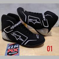 Bisa COD sepatu balap drag race touring sepatu motor list putih01