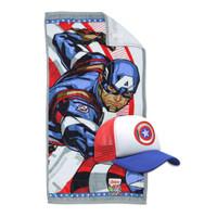Terry Palmer Marvel Bundling Towel and Snapback Cap Captain