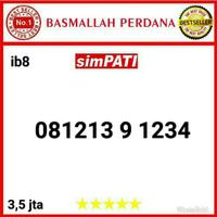 Nomor Cantik Simpati 11 digit urut 1234 081213 9 1234 bi8