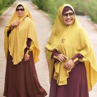 Gamis Syari Set Hijab Fashion Pakaian Wanita Muslim Aulia Meisa Chasew