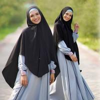 Gamis Set Hijab Fashion Pakaian Wanita Muslim Aulia Nigella Ocean