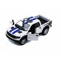 KiNSMART 2013 Ford F-150 SVT Raptor SuperCrew Pickup Truck, White 5365