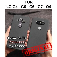 Sand scrub soft case LG G4 - G5 - G6 - G7 - Q6 casing hp cover silikon
