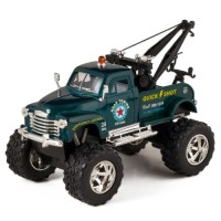 KiNSMART Green 1953 Chevy Off-Road Wrecker Die Cast Tow Truck Toy with